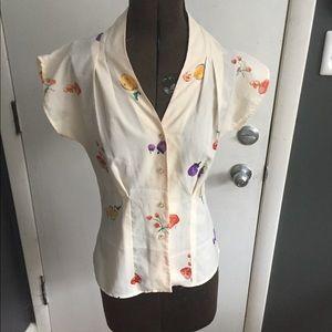 Unique Vintage blouse size small